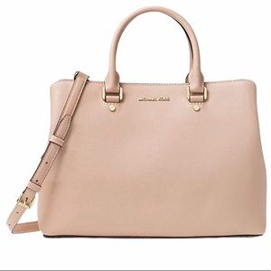 Michael Kors Savannah Satchel Blossom Pink Bag